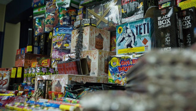 The Las Cruces Police Department confiscated more than $5,000 worth of illegal fireworks as of the morning of Wednesday July 5, 2017.