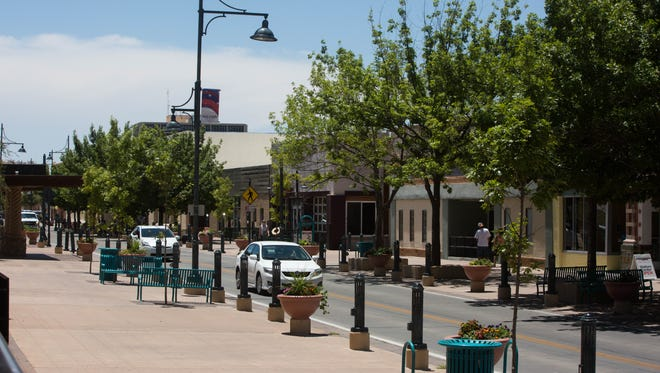 The city of Las Cruces prioritized a vibrant downtown in its five-year strategic plan, released Monday, July 17, 2017. Pictured Tuesday is Main Street downtown.