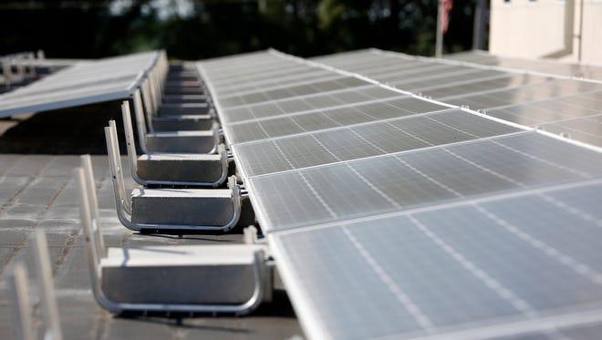 Solar panels at St. John the Apostle Catholic Church in Norwalk.