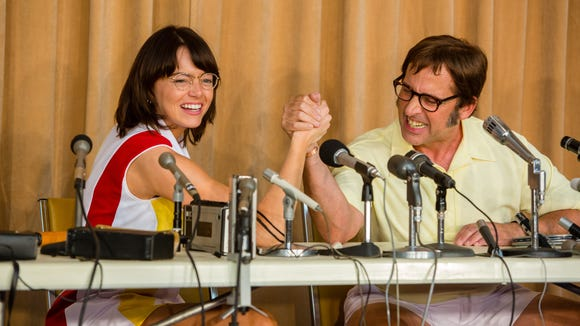 Emma Stone stars as Billie Jean King with Steve Carell