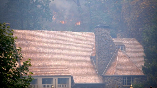 The Eagle Creek fire has been burning in the Columbia River Gorge since Sept. 2, 2017. In its third day, the wildfire threatened the Multnomah Falls Lodge. The blaze is burning east of Portland, Ore., in the scenic Columbia River Gorge.