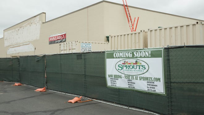 Sprouts grocery store will soon be taking the space of Hastings. September 28, 2017.
