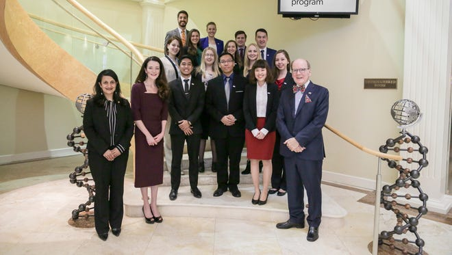 Alltech Career Development Program members with Dr. Aoife Lyons, director of educational initiatives and engagement at Alltech, Dr. Pearse Lyons, president and founder of Alltech, and Suniti Mujumdar, Educational Engagement at Alltech.