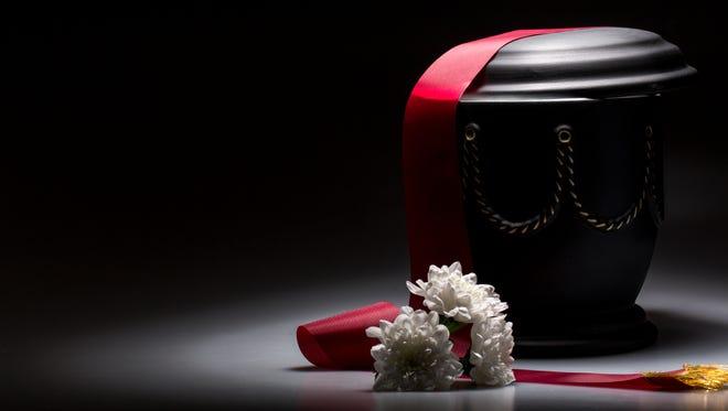 A funeral urn.