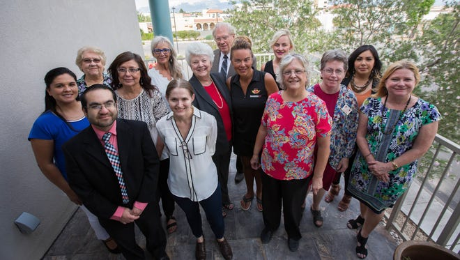 Representatives of the Doña Ana Arts Council; Asombro Institute for Science Education; Spay and Neuter Action Program; Revolution 120; and Catholic Charities of Southern New Mexico gather for a reception at the Las Cruces Sun-News on Thursday, July 12, 2018. The Sun-News granted each of the nonprofits $1,000 through the Gannett Foundation's Community Award Program.