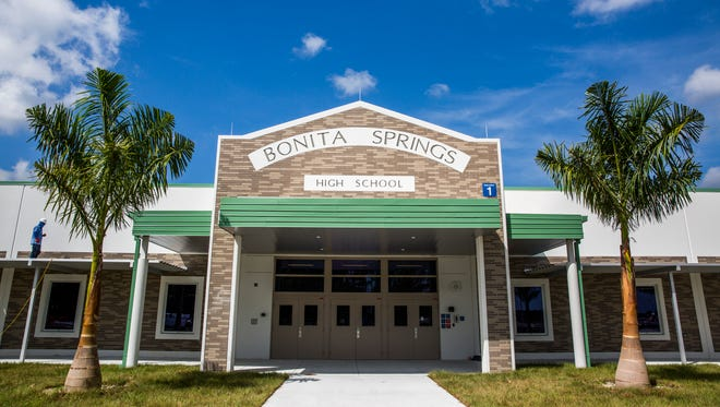 The newly constructed Bonita Springs High School on Friday, July 20, 2018. Classes started on Aug. 10.