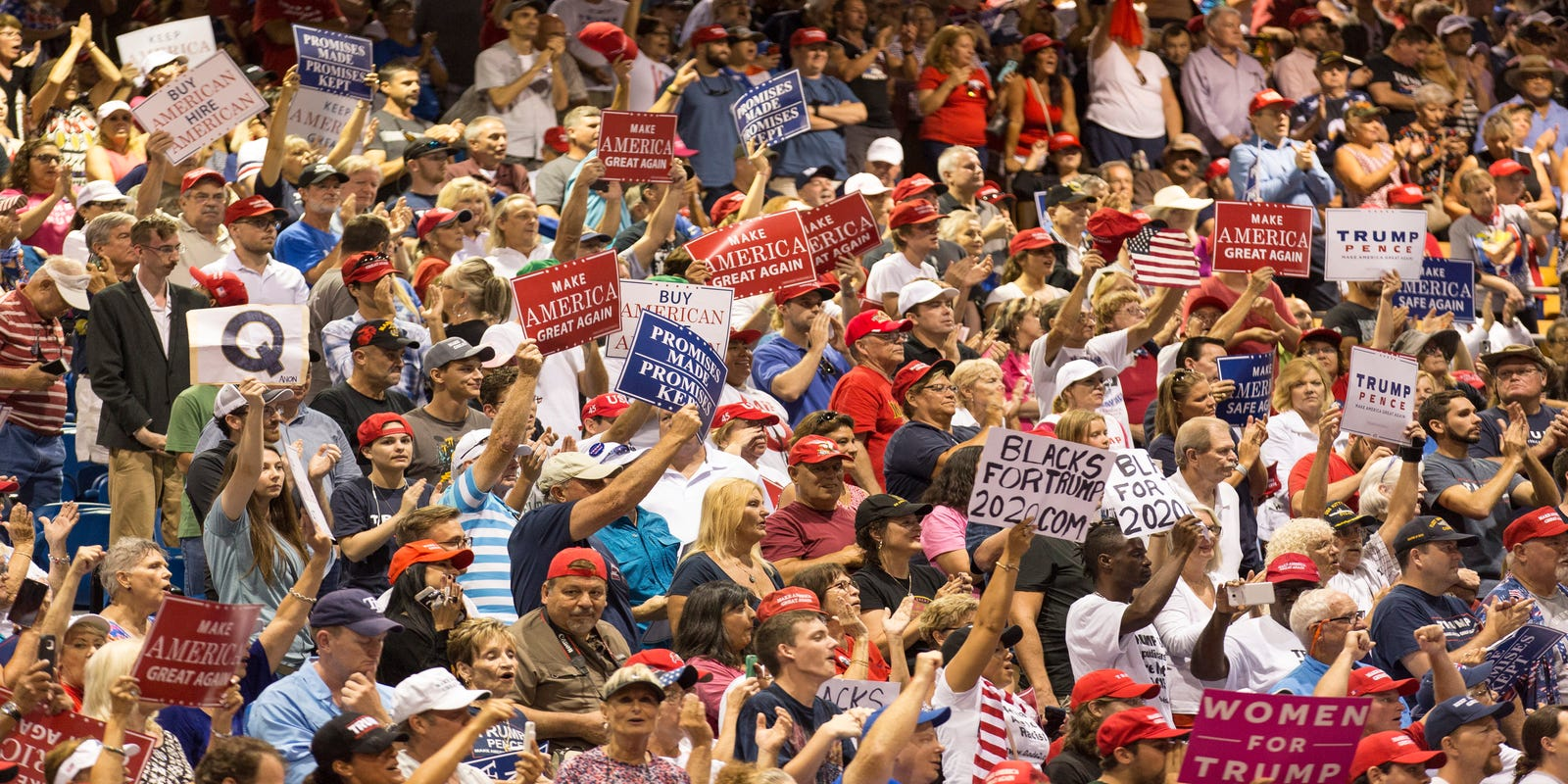 QAnon at Trump Florida rally: What the Q signs mean