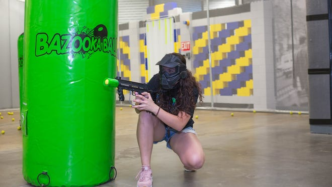 Bazooka Ball The Heist, located in the Mesilla Valley Mall, offers 10-minute games using soft, 2-inch foam balls that shoot from a paintball gun.