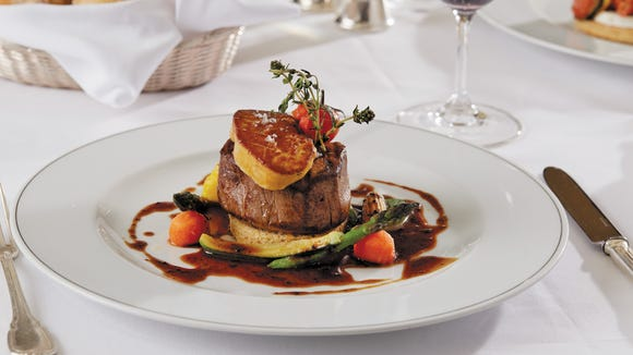 Tournedos Rossini at the Signatures restaurant on the