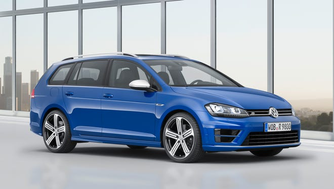 Volkswagen says it'll begin selling the new-design Golf SportWagen in April, with a diesel engine standard.