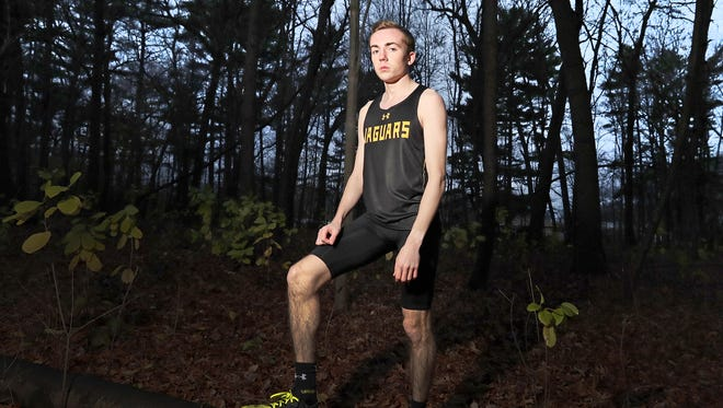 Ashwaubenon senior Tannor Wagner is the Green Bay Press-Gazette boys cross-country runner of the year. Wagner is shown at Colburn Park on Dec. 1 in Green Bay.