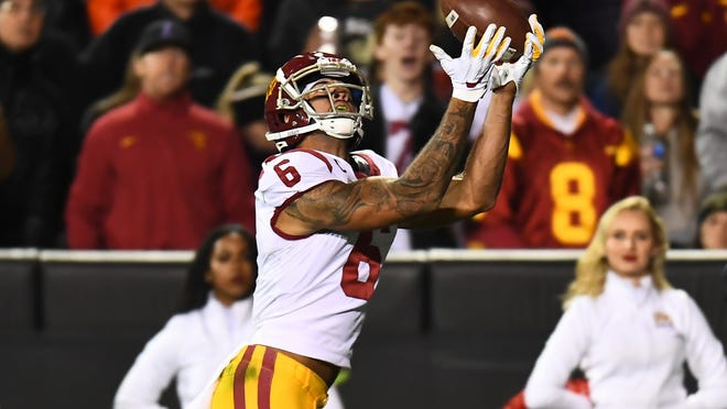 Former Oaks Christian School and USC star Michael Pittman Jr. was selected with the 34th overall pick by the Indianapolis Colts.