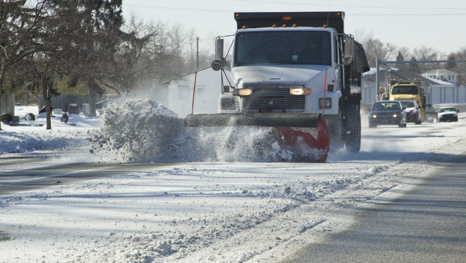 The area is expected up to 3 inches of snow and blustery conditions, but nothing like this file photo from Jan. 25, 2014, in Lafayette. But it will be cold enough, windy enough and snowy enough to make driving a challenge, according to National Weather Service advisories.