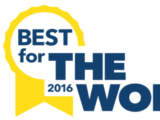 B Corporation 2016 Best for The World logo