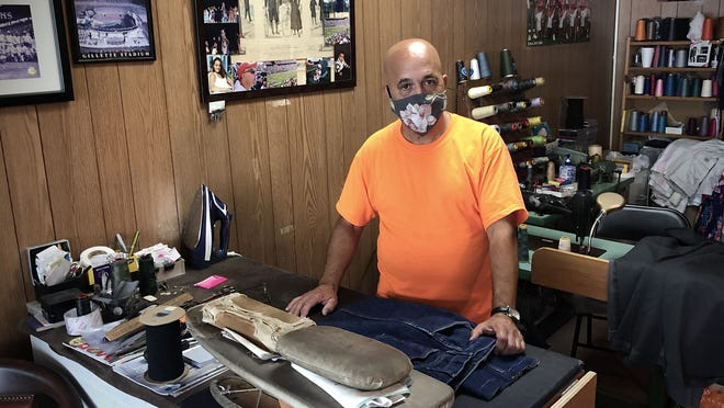Tony Saraiva, owner of Tony's Tailoring & Dry Cleaning, says he did virtually no alteration jobs related to high school proms and weddings this spring because of the coronavirus pandemic.