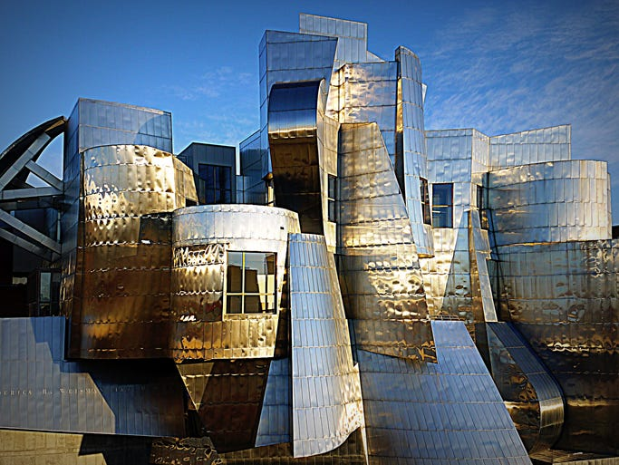 Frank Gehry, a renowned Canadian-American Pritzker Prize-winning architect, has designed some of the world's most recognizable buildings. We're taking a look at some of our favorite Gehry masterpieces (and where to see them).