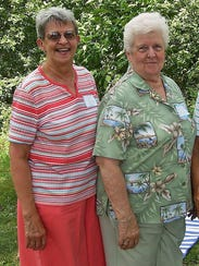 Sisters Ann Grubb and Claudia Deen are all smiles about