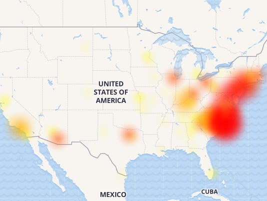 Verizon Power Outage Map.Some Sprint Verizon Customers Report Internet Outages