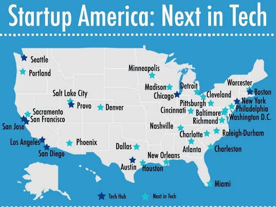 Your next high paid tech job may be in these cities for Idee start up usa