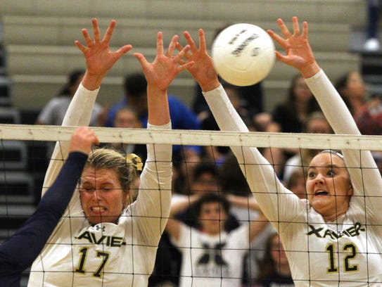 From left, Xavier Prep's Maria Callahan and Taylor