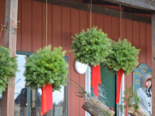 In addition to the trees, there's plenty of holiday decorations available at the farm.