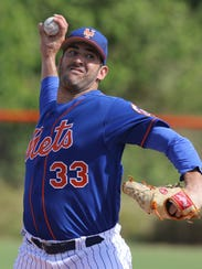 Mets workout this afternoon. Matt Harvey pitched live