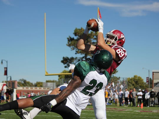 Appleton West graduate Matt Reader, a two-sport athlete at Chadron State, tied a school record with four touchdown receptions in a game against Fort Lewis on Nov. 14.