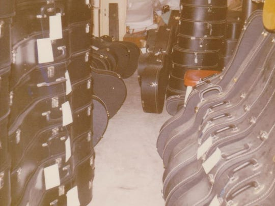 The basement of the Stutzman home had stacks and stacks of instruments.