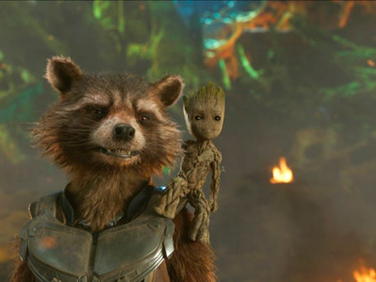 This image released by Disney shows the Rocket, voiced