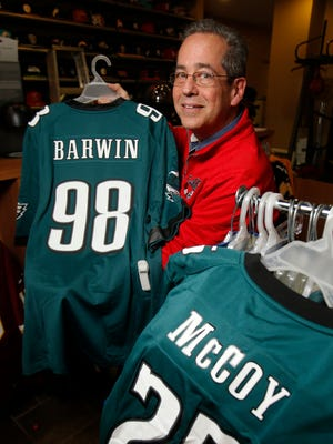 Al's Sporting Goods owner Bob Hart has seen sales of jerseys and other gear sporting Philadelphia pro team logos struggle along with the team's performances.