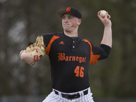 Barnegat's Jason Groome, shown pitching against Toms