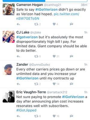 Twitter had some fun at Verizon's expense.