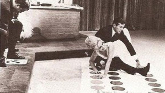 Johnny Carson playing Twister with his guest, Eva Gabor. The audience's laughter nearly stopped the show.