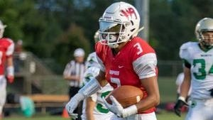 Isaiah Westfall leads the Valley Football Association-West Division with five touchdown receptions.