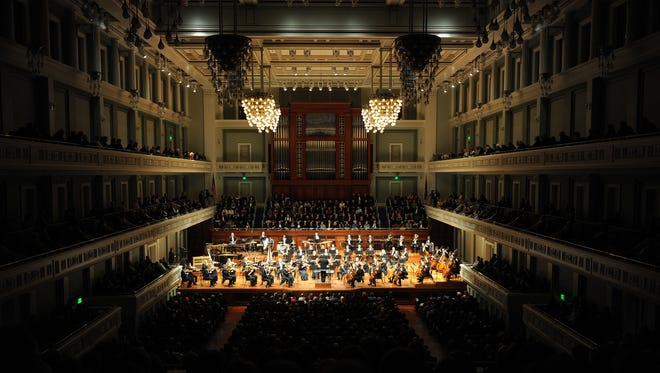 The Nashville Symphony performs on New Year's Eve 2010 as the Schermerhorn Symphony Center reopens for its first show since the flood in May of that year. The sold-out show was headlined by violinist Itzhak Perlman.