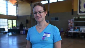 Activist Kristen Aaquist poses for a portrait at the Unitarian Universalist Fellowship of Northern Nevada in Reno on Saturday, Oct. 10, 2015.