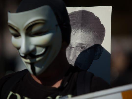 Activists Demonstrate Against NSA's Surveillance Tactics