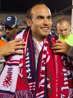 Landon Donovan soaks in the atmosphere after his final appearance for the U.S. national team.