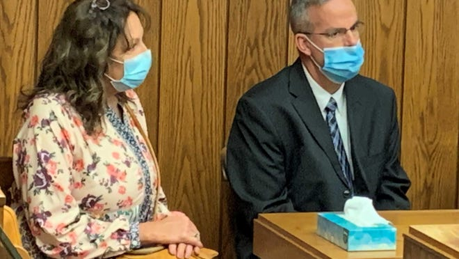 Julia M. Warner, left, and Judge Jason D. Warner entered pleas of not guilty to all charges they're facing in relation to a June 4 hit-skip crash. The Warners were arraigned Tuesday, Sept. 15, in Marion County Common Pleas court.