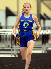 Merrol Hyde Magnet freshman Kaelyn Meier is competing for state berths in two events during the Class A-AA Middle Sectional track meet at Lipscomb University.