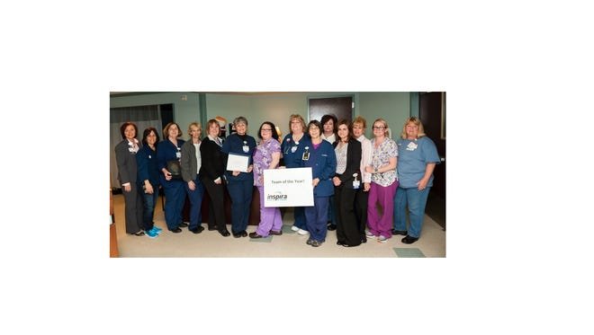 Inspira Health Network recently recognized the Inspira Woodbury Cardiopulmonary Services and Therapy Team as its Team of the Year.