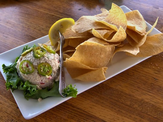 Petey's Upper Deck at Matanzas on the Bay on Fort Myers Beach offers a smoked fish dip made of 100 percent Mahi, smoked on premise.