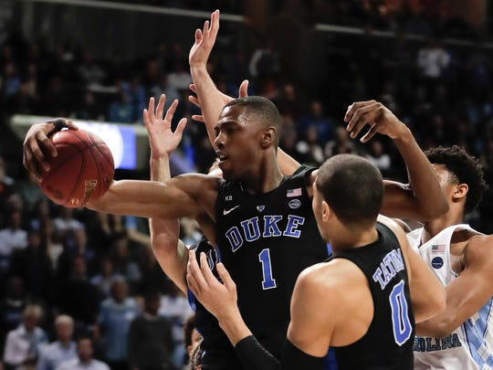 Injuries have slowed Duke forward Harry Giles, but he has tremendous upside.