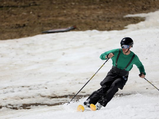 Bristol Mountain opens for a record setting May 1st