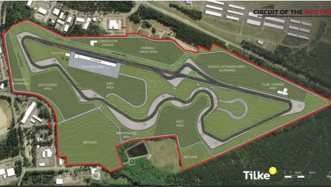 A design for the proposed Circuit of the Northwest raceway in South Kitsap.