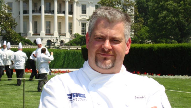 Chef James Major at the White House in 2011.