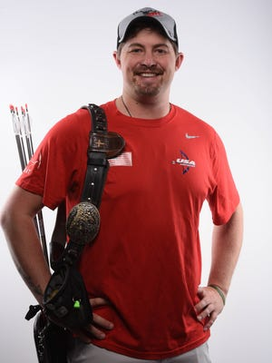 Brady Ellison leads after two phases of the U.S. Olympic Archery Trials and is close to qualifying for a third Olympics.