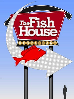 A rendering of the proposed sign, which could be built at the Fish House property.