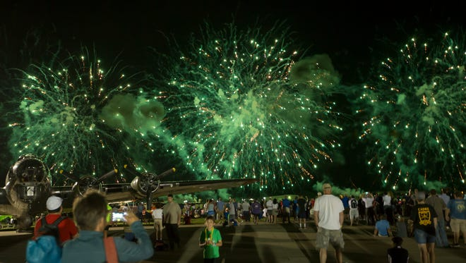 The EAA AirVenture's finale of the Wednesday night air show was a fireworks on July 27, 2016.
