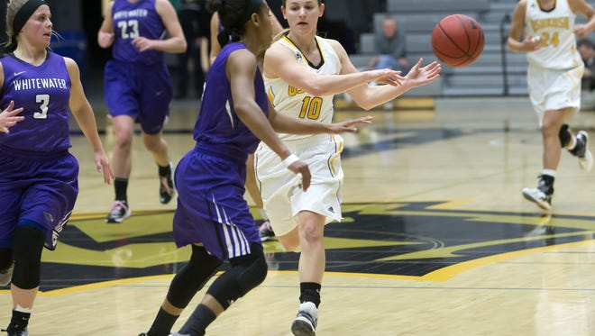 Senior Taylor Schmidt became the third women's basketball player in UWO history to earn WIAC Player of the Year honors.
